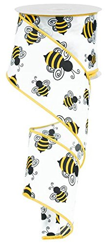 Bumble Bee Black & Yellow Ribbon Wired 2.5