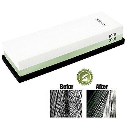3Dimage® Whetstone 2-IN-1 Sharpening Stone 3000/8000 Grit Whaterstone, Rubber Stone Holder Includedd by 3Dimage (Image #2)