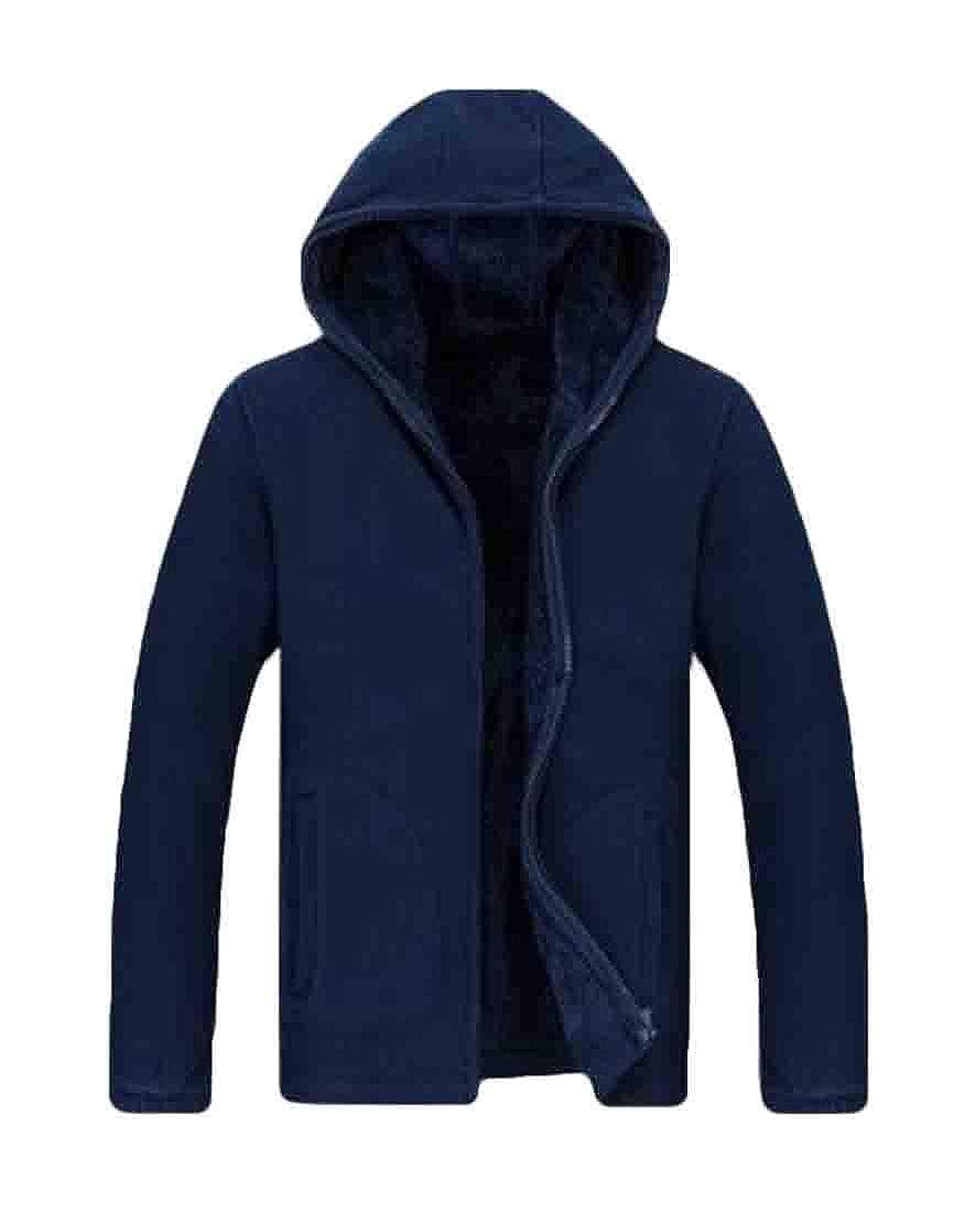GRMO Men Large Size Warm Hood Fleece Loose Fit Sweatshirts