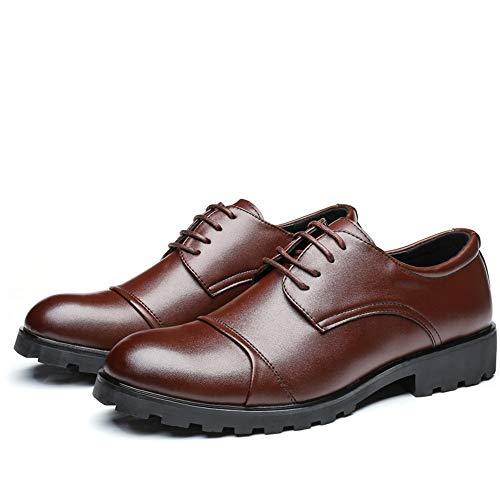 Gentleman Low Casual Des 40 Lan Mode Style Taille chaussures Shuo Chaussures De Hommes Marron Oxford Cricket Marron up Formelles top color La Confortable Lace Eu x8qFyBw7