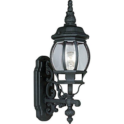Progress Lighting P5878-31 1-Light Wall Lantern with Clear Beveled Glass, Textured Black ()