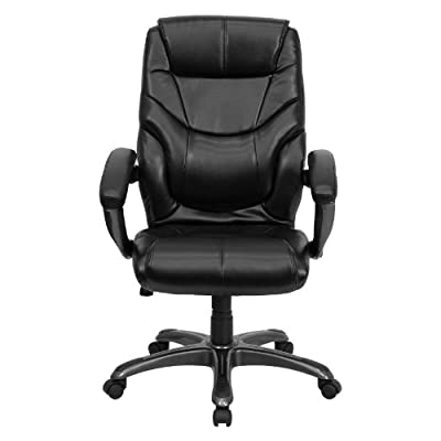 Flash Furniture Overstuffed Executive Office Chair - Black, High-Back