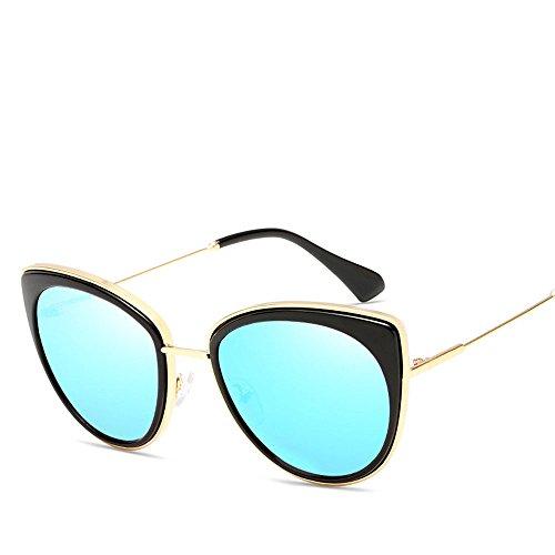 Chahua Lunettes de soleil rétro lunettes de soleil Lunettes de soleil hommes Metal Tendances en Europe et lAmérique, B