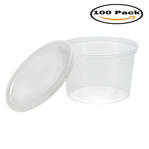 Mydio 100 Pack 5oz Disposable Plastic Portion Cups with Lids,Clear Portion Container for Food And Beverages