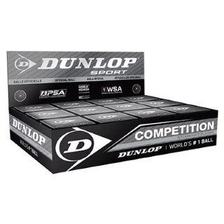 Dunlop Lot de 12 balles de squash à point jaune
