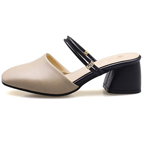 COOLCEPT Damen Sommer Geschlossene Sandalen Beige
