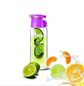 ORDEL® Botella de agua infusora zumo de frutas vitaminas 800ml - BPA FREE (Lila): Amazon.es: Deportes y aire libre