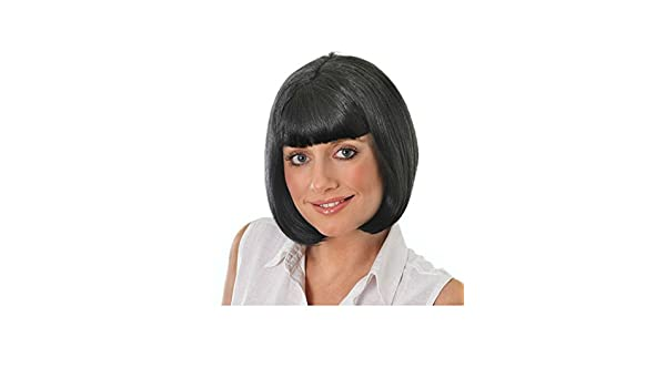 Ladies Short Black Bob Wig Pulp Fiction Mia Hollywood Fancy Dress by Home & Leisure Online: Amazon.es: Juguetes y juegos