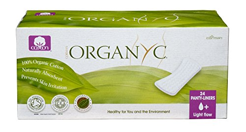 ORGANYC Hypoallergenic 100% Organic Cotton Panty Liners, flat, 24-count Boxes (Pack of 2) by Organyc