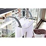 Multi-purpose Folding Drying Clothes Rack Balcony Window Towel Hanger