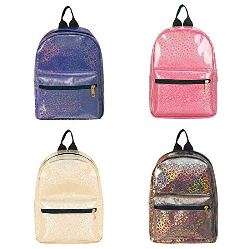 Organizador Escolar Café Niñas Pink Beige Eeayyygch Shiny De School Gran Rosa Fashion Mochila Láser Women Hombro Bolsas Mujeres Bag Backpack Para Back color FTA4F