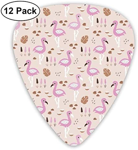Flamingo Love Sweet Jungle Paradise And River Summer Print Girls Pink_3742 Classic Celluloid Picks, 12-Pack, For Electric Guitar, Acoustic Guitar, Mandolin, And Bass: Amazon.es: Instrumentos musicales