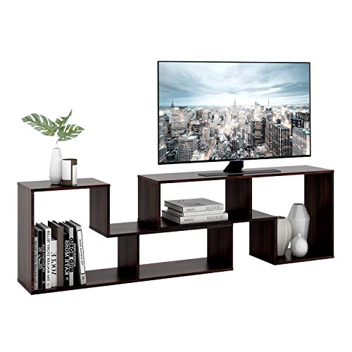 DEVAISE TV Stand, Modern and Versatile Entertainment Center Media Stand, Used as a Bookcase, TV Console/Storage Shelf for Your Living Room, 0.59