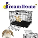Pet Tek SPK70136 Dream Home 2-Door Rabbit Cage, Large, Black