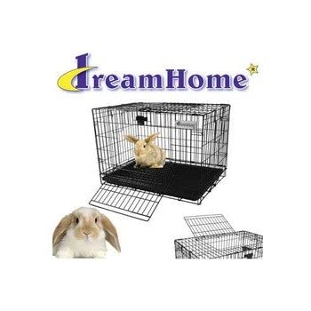 Pet Tek SPK70136 Dream Home 2-Door Rabbit Cage, Large, Black