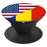 Romanian flag phone holder %2D PopSocket