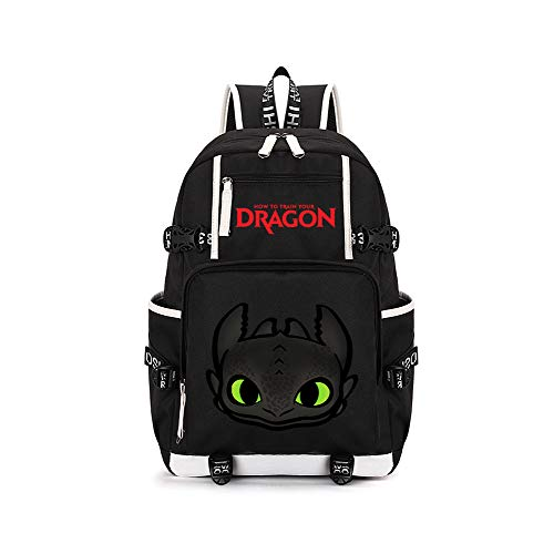How to Train Your Dragon Casual Backpack Computer Backpack Fashion School Rucksack Outdoor Sports Backpack Casual Backpack Travel Bag (Color : Black11, Size : 30 X 12 X 42cm)