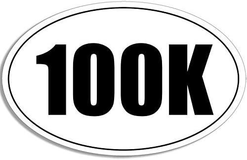 * Oval Euro Car Magnet 50K Marathon Distance Runner Magnetic Bumper Sticker