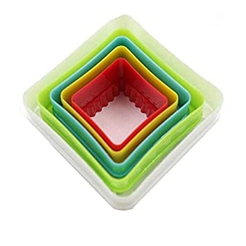 Juego de 5 moldes de plástico para cocina, galletas, moldes para tartas: Amazon.es: Hogar