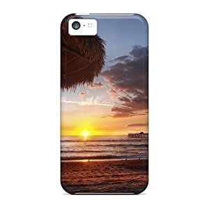 Superb Sunset On Beach Sea Pier Hdr Case Compatible With Iphone 5c/ Hot Protection Case
