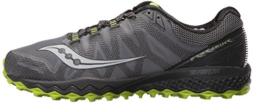 Saucony Men's Peregrine 7 Trail Runner, Grey/Black/Lime, 10 M US (S20359-2)
