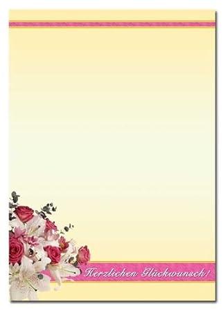 Motivpapier HERBST-RAHMEN 50 Blatt DIN A4 Briefpapier
