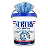 SCRUBS 42272CT Hand Cleaner Towels, 72 /Tub, 6 /CT,Blue