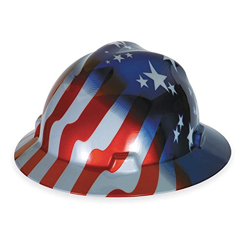 Msa  Mine Safety Appliances  10071157 V Gard Freedom Series Class E Type I Hard Hat With Fast Track Suspension And American Stars And Stripes
