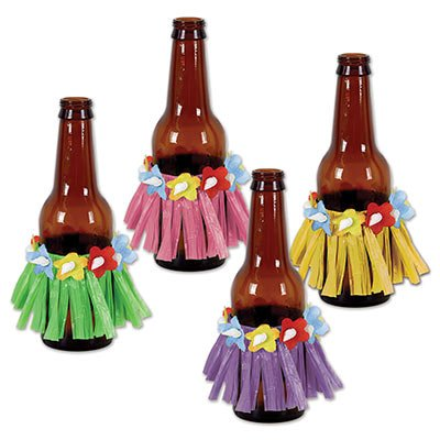 Drink Hula Skirt Decorations (Pack of 8 Skirts) Perfect For Luau, Hawaiian Party Decorations & Supply ()