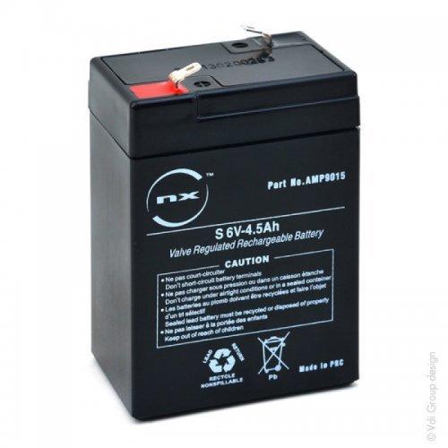 NX - Batería plomo AGM S 6V-4.5Ah 6V 4.5Ah T1 - Unidad(es) AMP9015-1