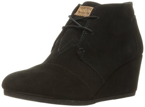 Toms Womens Desert Wedge Black Suede Size 9