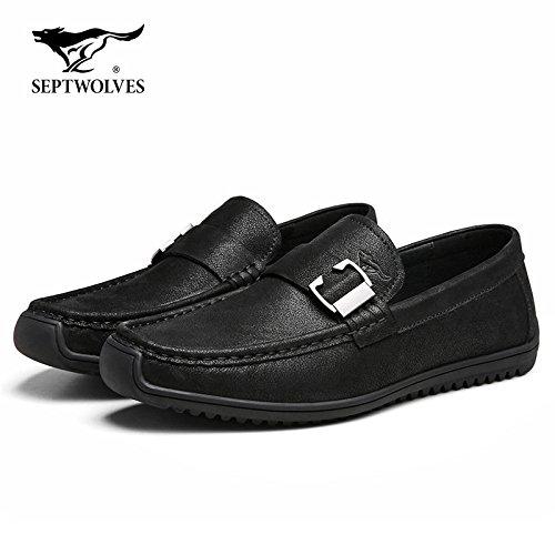Aemember Zapatos Para Hombre Otoño Mat Bean Soy Zapatos, Zapatos De Hombre Expulsados peddling Lazy Bones Zapatos, Zapatos Casuales, Hombres Y, 39, Negro
