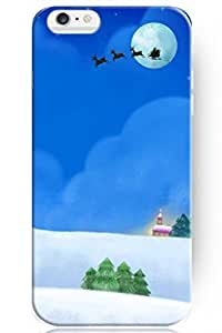day case New Personalized Hard Father Christmas under Bright Full Moon for iphone 6 4.7) Case