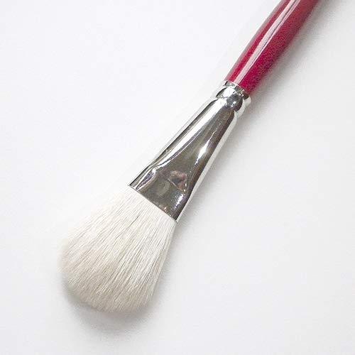 Silver Brush 5519S-1 Silver Mop Short Handle Blender Brush, White, Oval, 1-Inch
