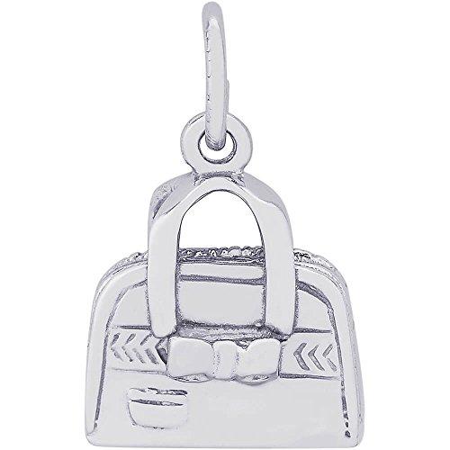 14k Gold Handbag Charm (Rembrandt Charms 14K White Gold Hand Bag Purse Charm (0.47 x 0.5 inches))