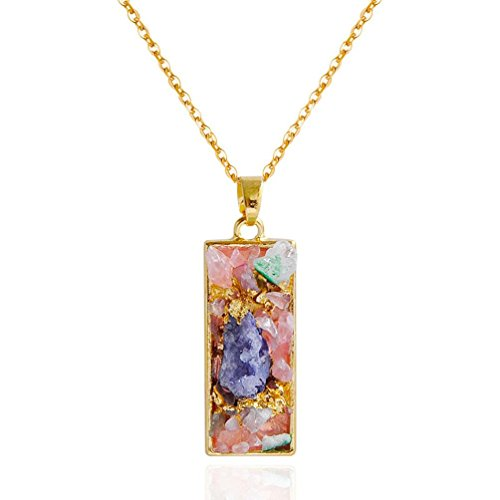 Multi Colored Tourmaline Earrings (2017 New Fashion Trendy Multicolored Stone Women Long Pendant Necklace by TOPUNDER)