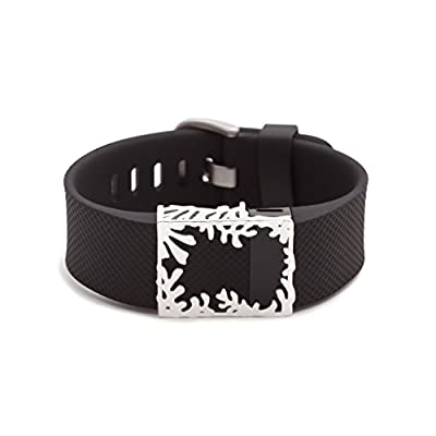 sterling silver Matisse frame for Fitbit Charge & Charge HR - HOLIDAY SALE!