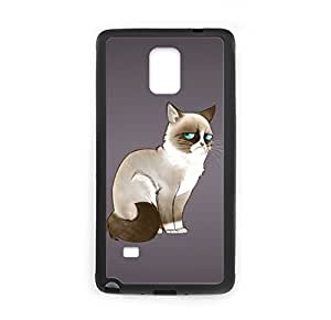 Cartoon Grumpy Cat Image Made for Samsung Galaxy Note 4 Case Cover Plastic and TPU yaya's Individuation Custom case