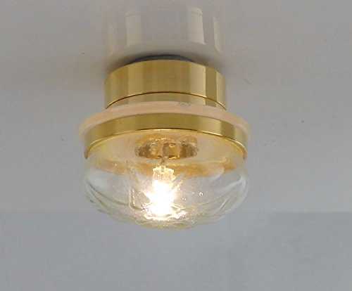 (Melody Jane Dolls Houses House Miniature Lighting Led Battery Light 1:12 Scale Round Ceiling Lamp)