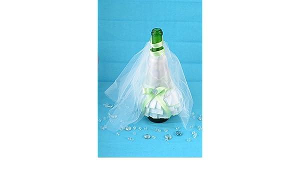 Decoracion para botella de cava traje de novia y velo artesanal original: Amazon.es: Hogar