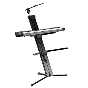Knox Portable Aluminum Column Keyboard Stand With Mic Boom Pole