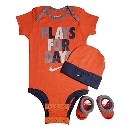 huge discount 550ed 54dc8 Nike 3 Piece Infant Set for Baby Boy s and Girl s, Bodysuit Hat   Booties