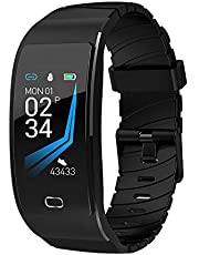 BIGABIGA Smart Watch Waterproof Fitness Activity Tracker with Heart Rate Monitor Wearable Oxygen Blood Pressure Wrist Watch Bluetooth Running GPS Tracker Sport Band