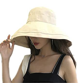 MOKIE Women's Wide Brim Sun Hats Foldable UPF 50+ Sun Protective Bucket Hat