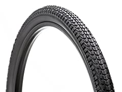 26 inch tire with large knobs and micro gnarled tread provides great grip for the streets or the dirt