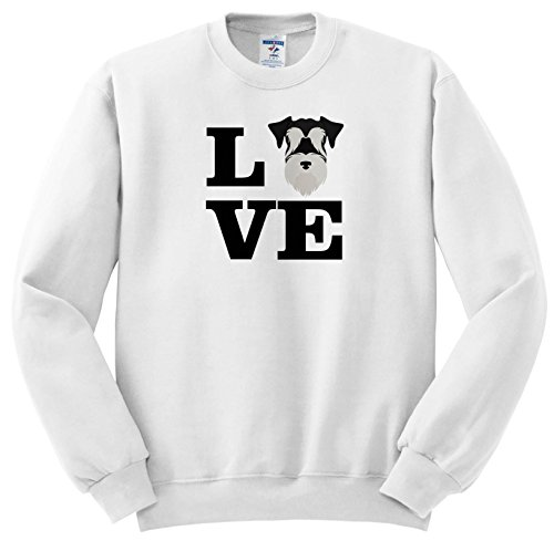 (Carsten Reisinger - Illustrations - I Love My Miniature Schnauzer Dog Design Canine Lover - Sweatshirts - Youth Sweatshirt Small(6-8) (ss_282703_10))