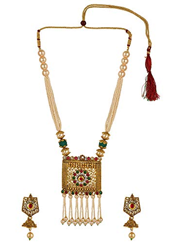 81921ecf0f3a7 Efulgenz Indian Bollywood Traditional Gold Plated Crystal Faux Kundan Pearl  Wedding Choker Necklace Earrings Jewelry Set