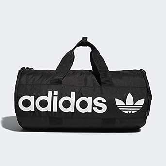 adidas Originals Unisex Paneled Roll Duffel Bag, Black, ONE Size