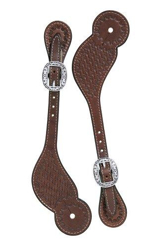 weaver leather lavabo vaquero correas para espuelas, Regular, Marrón