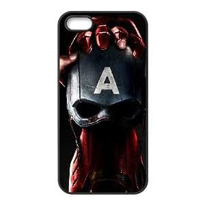 Captain America Civil War funda iPhone 5 5S caja funda del teléfono celular del teléfono celular negro cubierta de la caja funda EOKXLLNCD22643